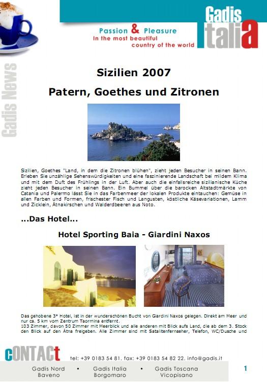 Sizilien 2007: Patern, Goethes und Zitronen