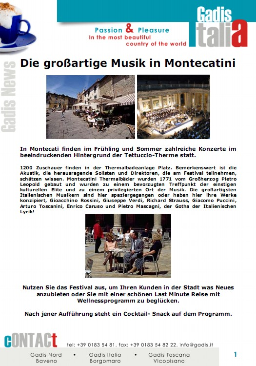 Die gro�artige Musik in Montecatini
