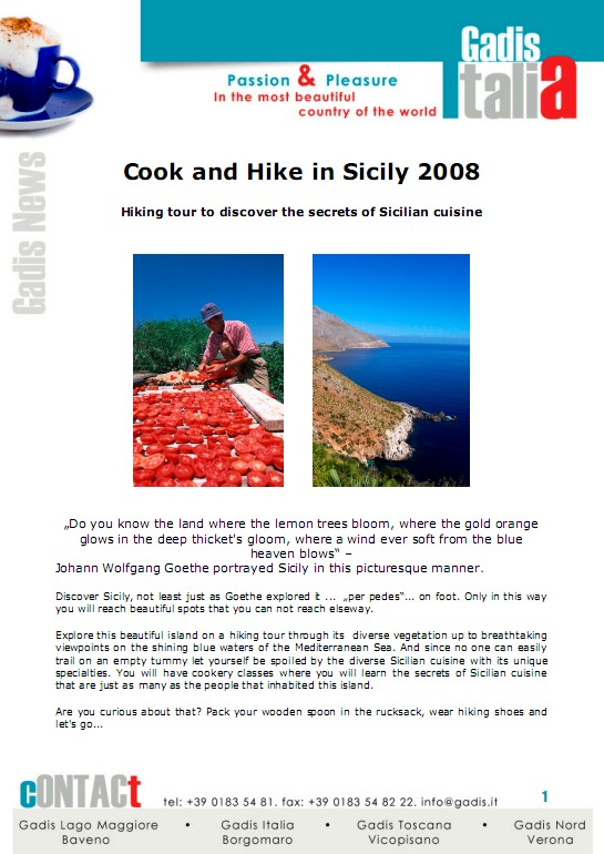Cook and Hike in Sicily 2008