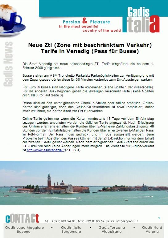 Einfahrtsgeb�hren (ZTL) 2009 in Venezia
