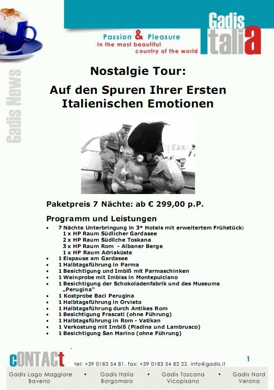 Rundreise Italien - Nostalgie Tour