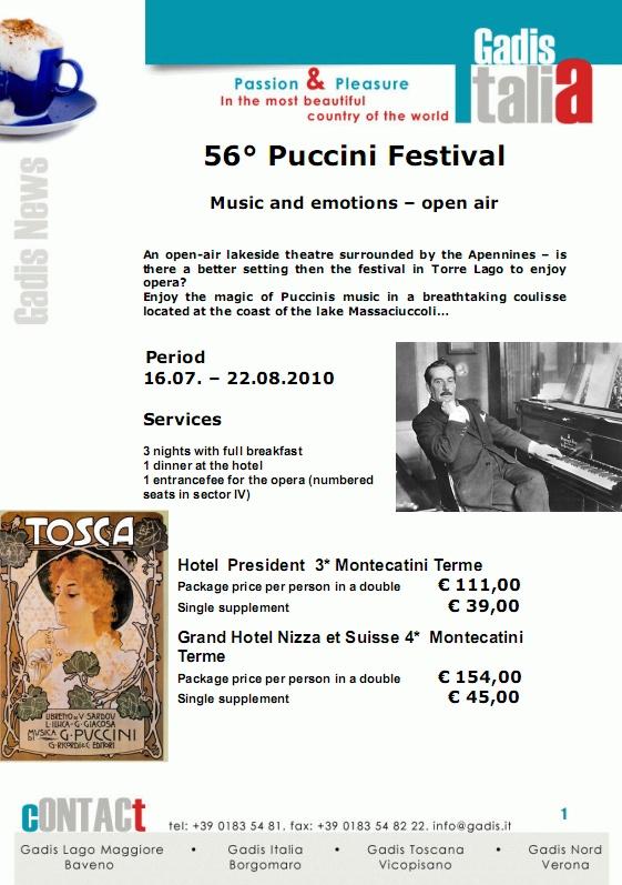 56� Puccini Festival