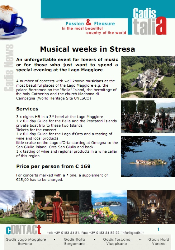 Musical weeks in Stresa