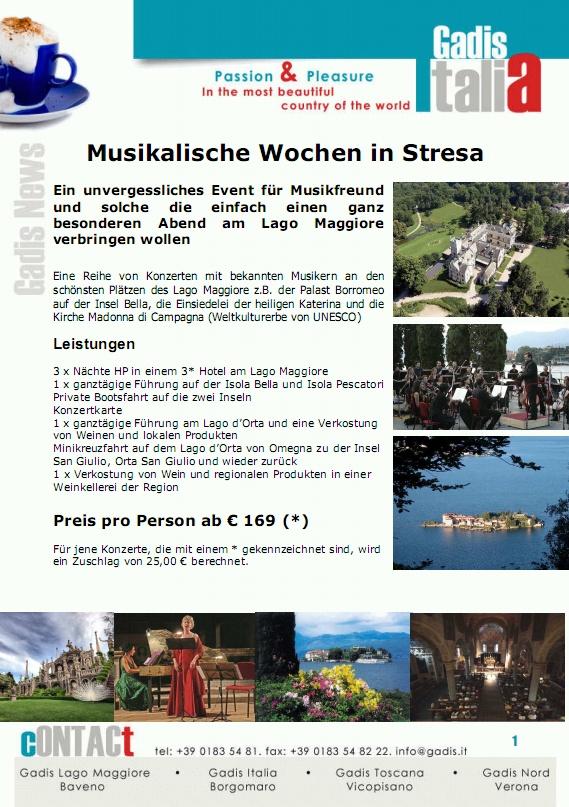 Musikalische Wochen in Stresa
