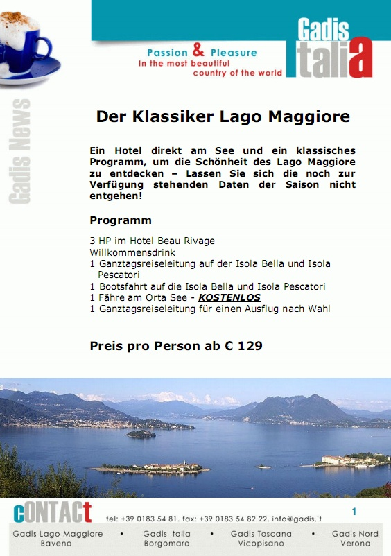 Der Klassiker: Lago Maggiore