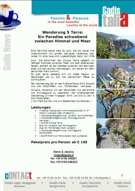 Wanderung 5 Terre: ein Paradies schwebend zwischen Himme und Meer