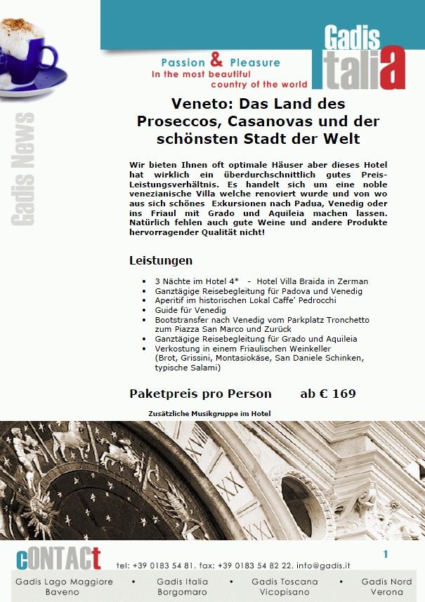 Veneto: das Land des Proseccos, Casanovas und der sch�nsten Stadt der Welt