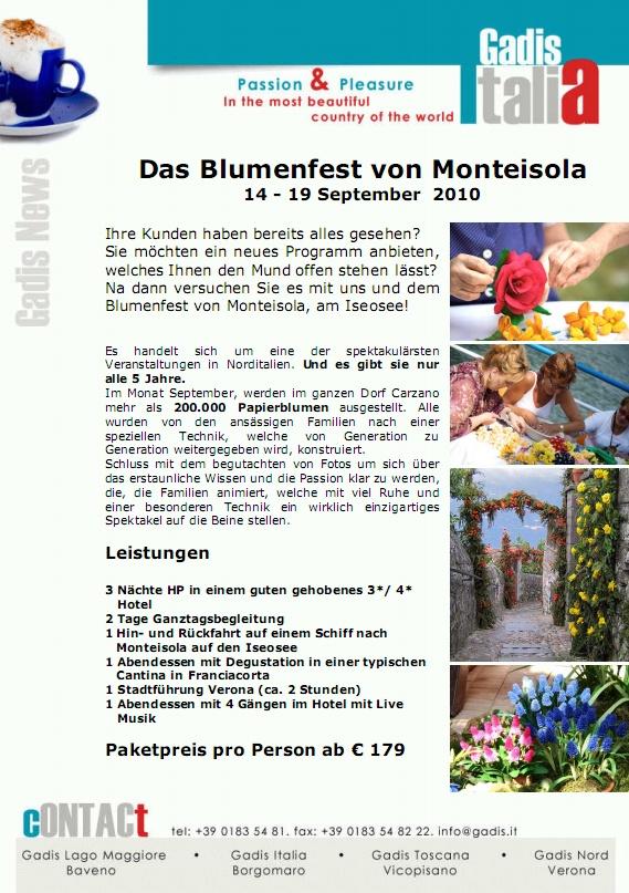 Das Blumenfest von Monteisola