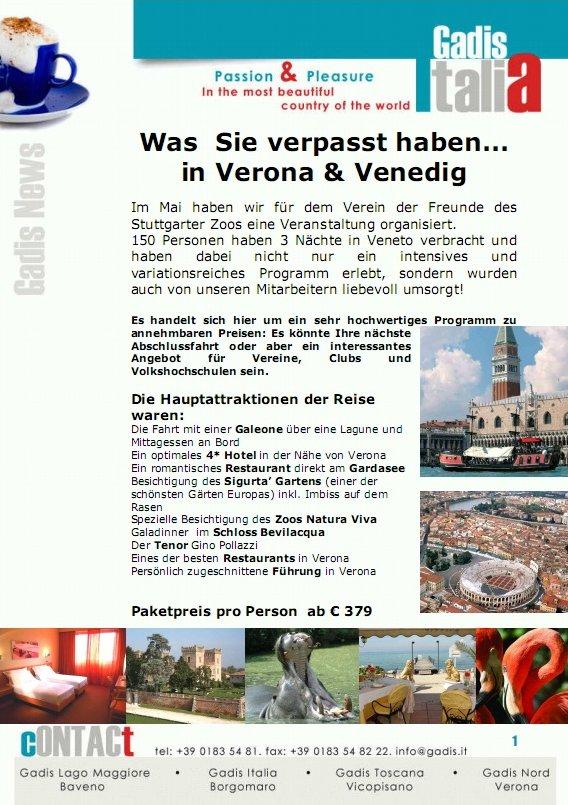 Verona & Venedig - Eventreise