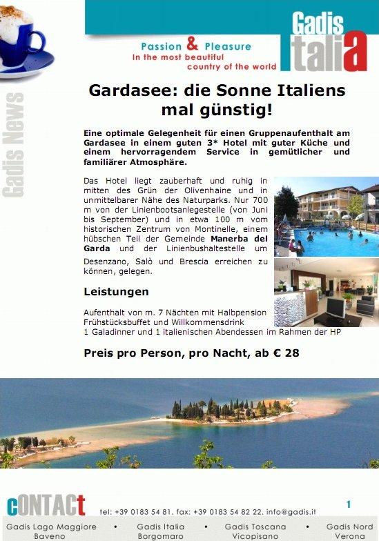 Gardasee: Die Sonne Italiens mal g�nstig