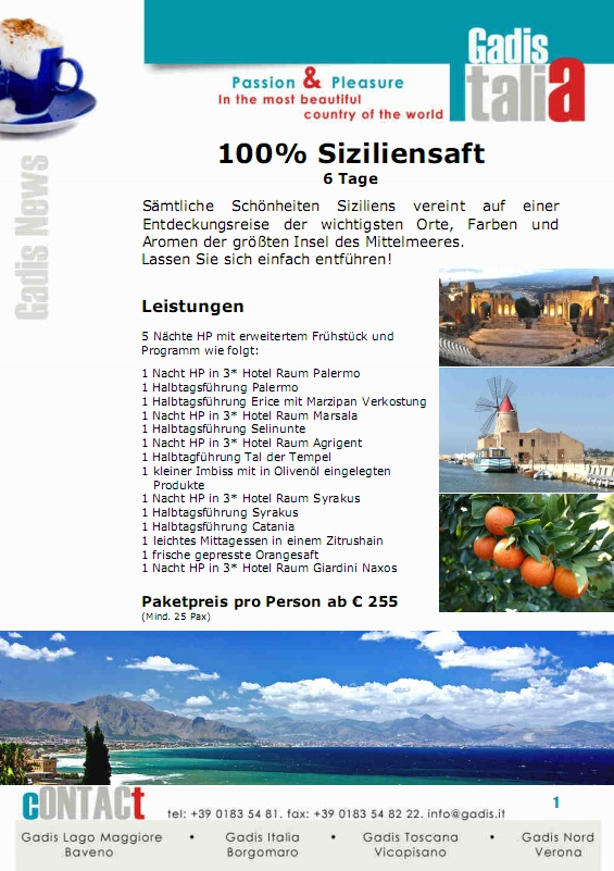 100% Siziliensaft