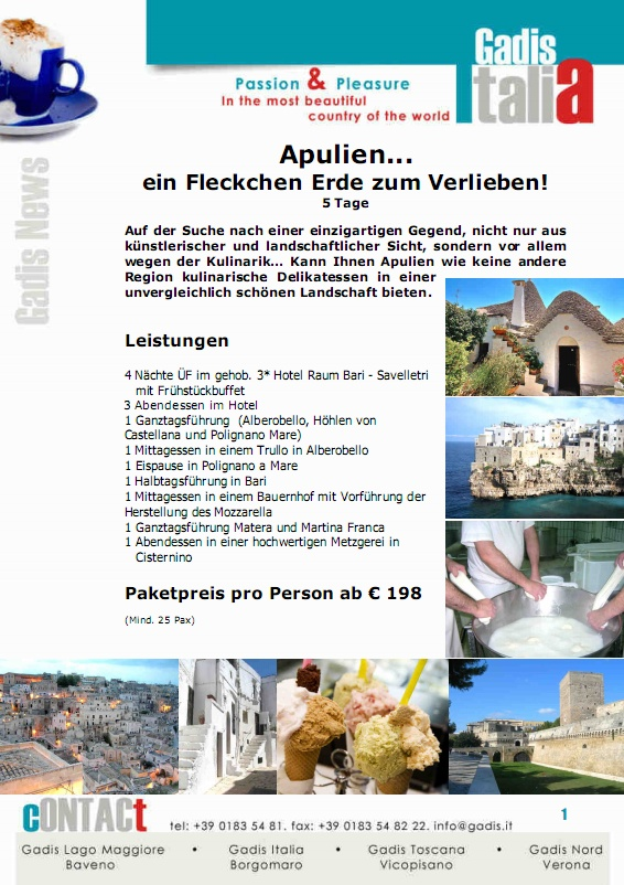Apulien... ein Fleckchen Erde zum Verlieben!