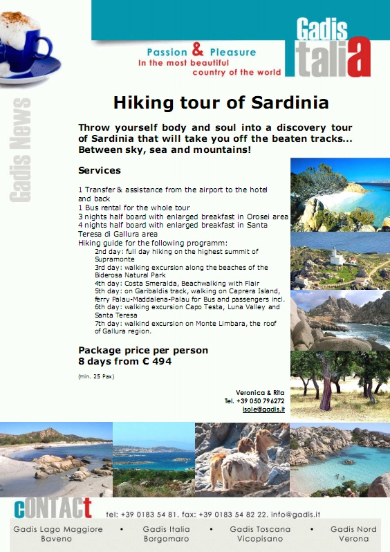 Hiking tour of Sardinia
