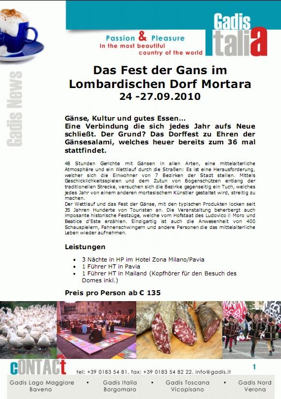 Das Fest der Gans im Lombardischen Dorf Mortara