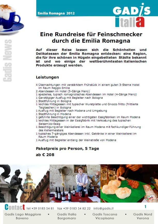 Emilia Romagna: Eine Rundreise f�r Feinschmecker