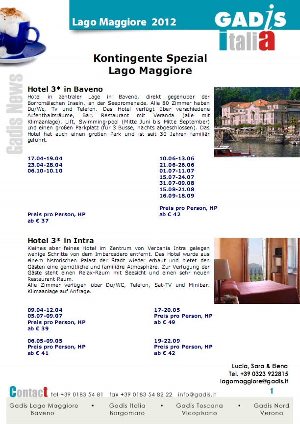 Kontingente Spezial  Lago Maggiore