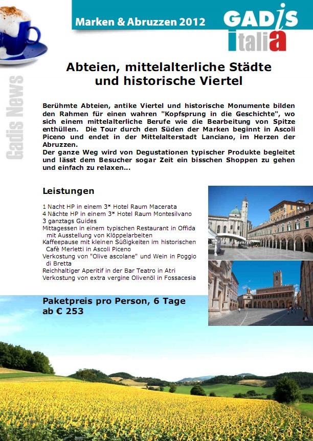 Marken & Abruzzen - Abteien, mittelalterliche St�dte und historische Viertel