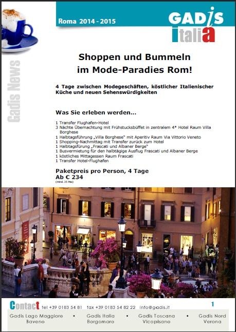 Rom: Shoppen und Bummeln im Mode-Paradies Rom!