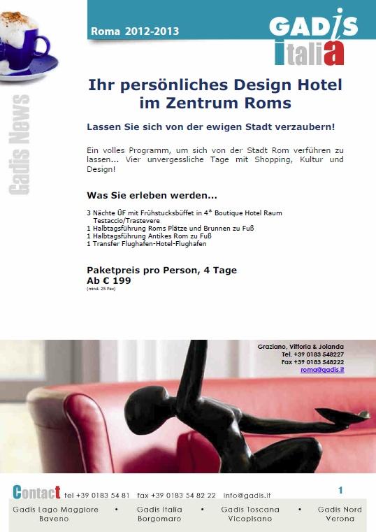 Design Hotel im Zentrum Roms