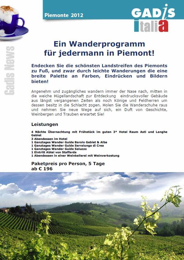 Wandern Piemont - Ein Wanderprogramm f�r jedermann