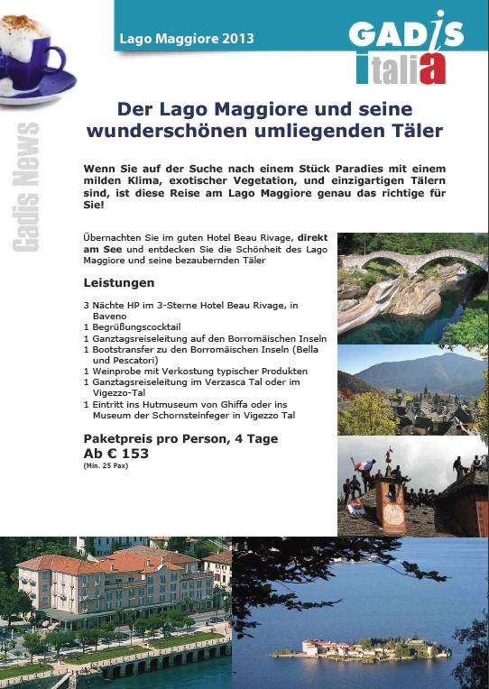 Der Lago Maggiore und seine wundersch�nen umliegenden T�ler