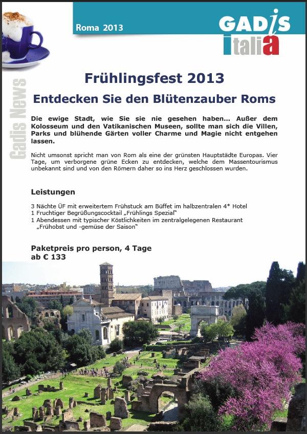 Rom - Fr�hlingsfest <br>Entdecken Sie den Bl�tenzauber Roms