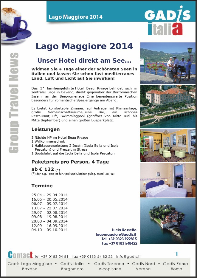 Lago Maggiore 2014 ~ Unser Hotel direkt am See...