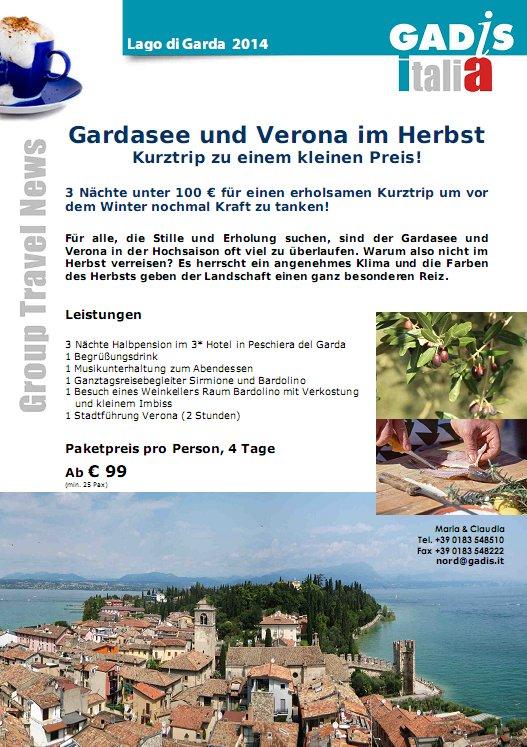Gardasee und Verona im Herbst
