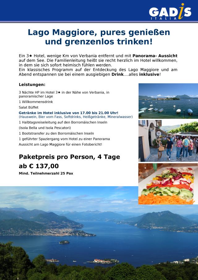 Lago Maggiore, pures genie�en  und grenzenlos trinken!