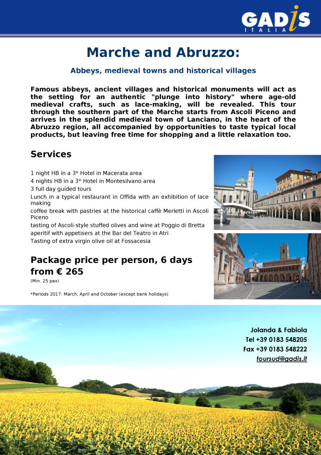 Marche and Abruzzo: Abbeys, medieval towns and historical villages
