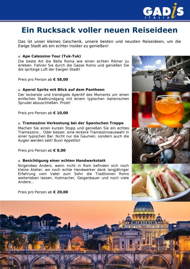 Reiseideen Rom 2018