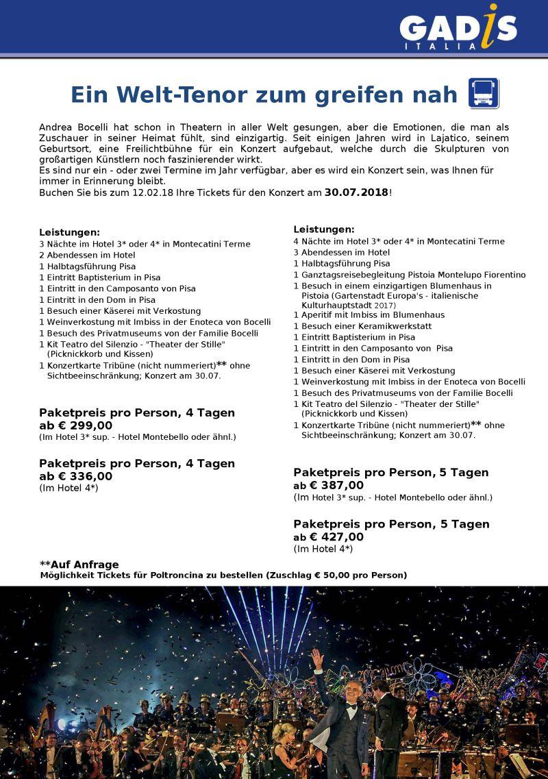 Andrea Bocelli im konzert!