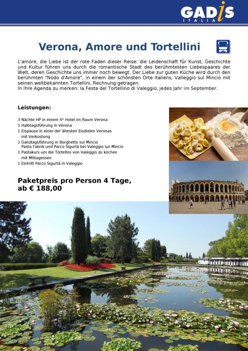 2018 Verona, Amore und Tortellini