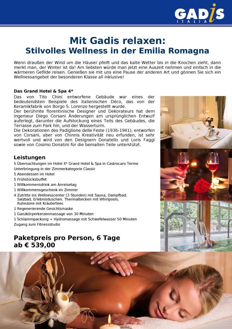 Wellness in der Emilia Romagna 2018 - 2019
