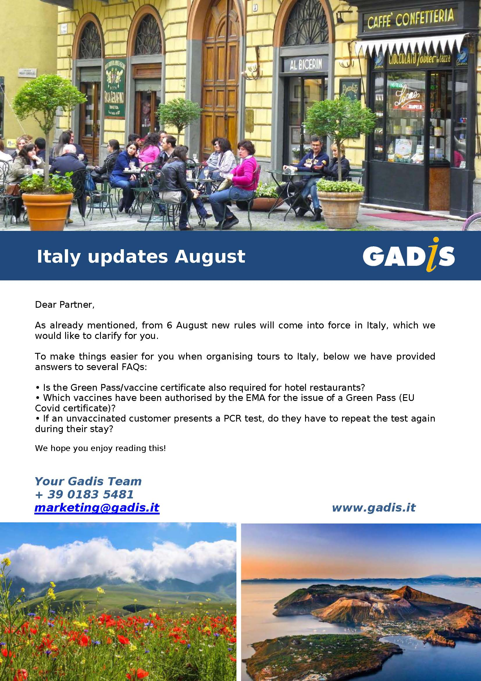 Italy updates August 2021