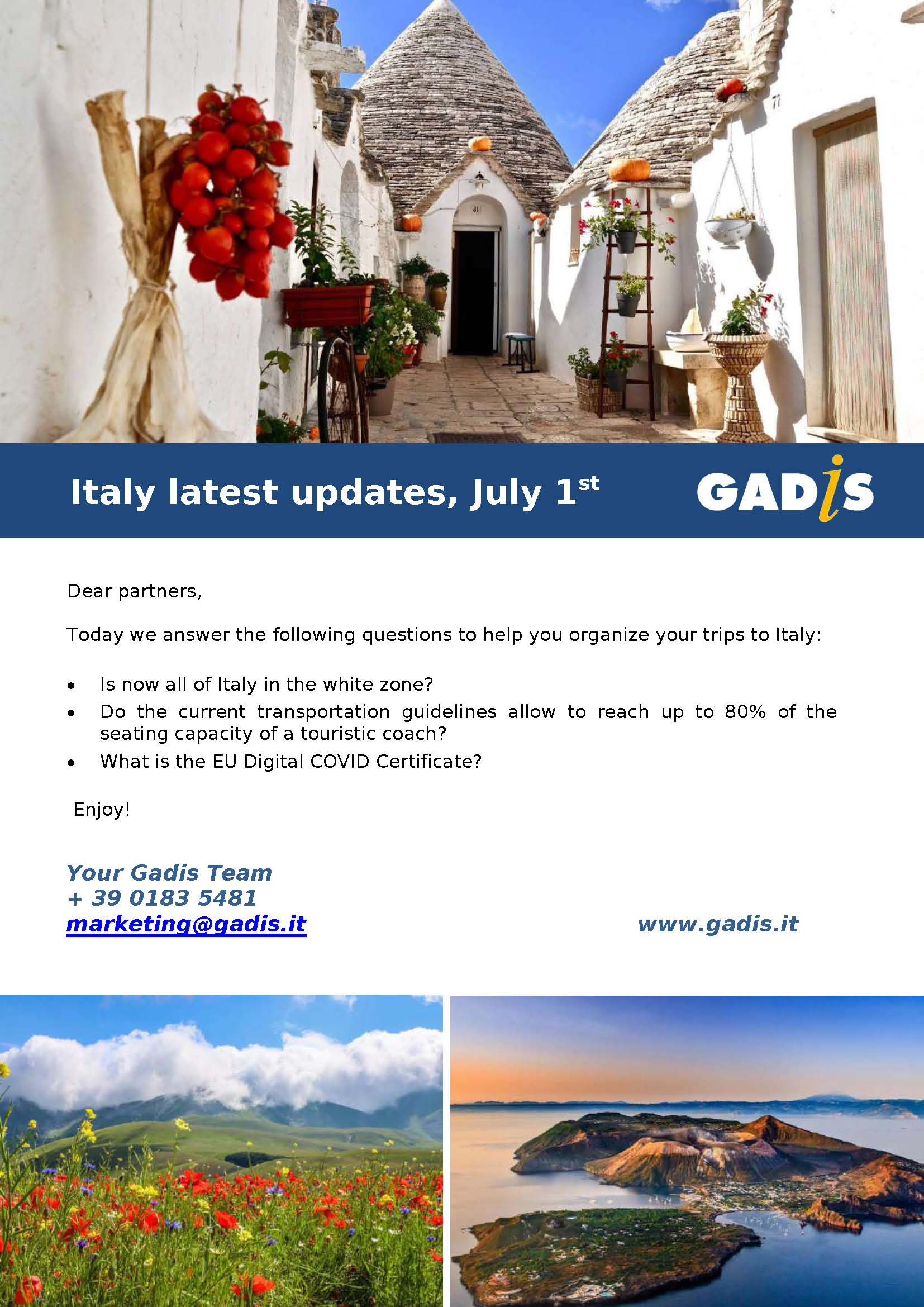 Italy updates July 2021