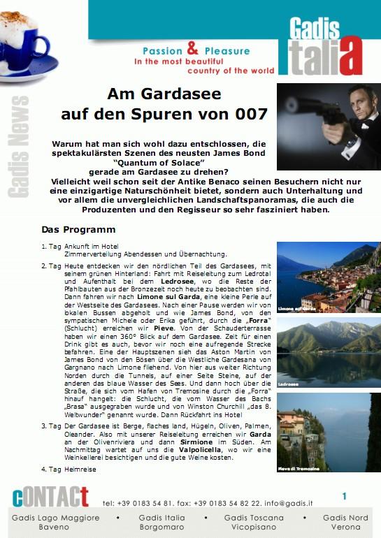 Auf den Spuren von 007