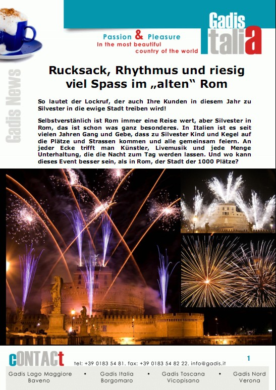 Silvester mit Rucksack in Rom