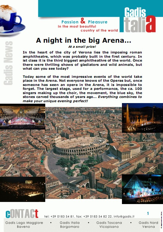 A night in the big Arena�