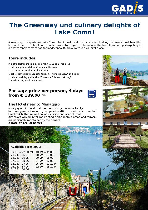 Greenway Lake Como 2020!