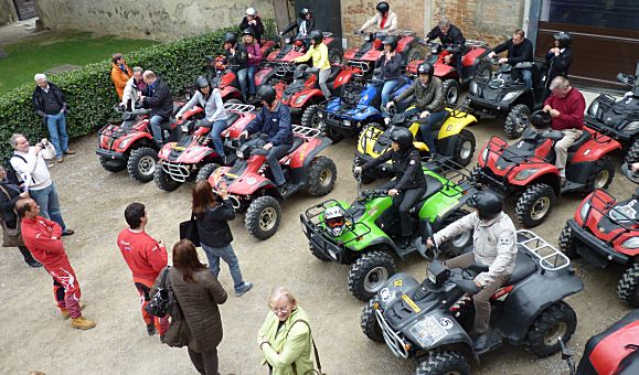 Quad activity in Tuscany